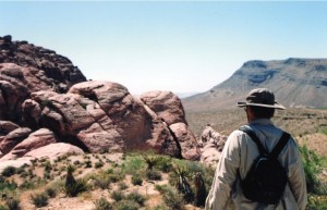 Red Rock Canyon and Dad, (c) 2010 J. Eby